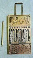 machine a calculer  ancienne mécanique  RéBo mMarseille