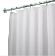 interDesign Poly Waterproof Stall-Size Shower Curtain Liner in White