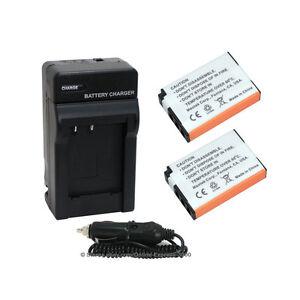2 Battery + Charger Como Kit for Fuji NP48 NP-48, Fujifilm XQ1