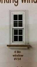 Working Traditional Window/ 4 lite window pane design 1:24 scale