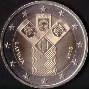 "LATVIA 2 euro 2018 ""100 YEARS OF INDEPENDENCE OF LATVIA"" UNC BI-METALLIC"