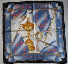 Auth Foulard  ESCADA GOLF RYDER CUP 1999 soie TBEG  vintage Scarf
