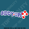 GIDDY UP SOUTHERN CROSS Decal Sticker BUMPER CAR HOT ROD 4WD AWD TRUCK STICKERS