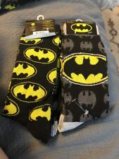 BNWTS DC Comics Batman Socks!! Shoe Size 6-12 (2 PAIRS)