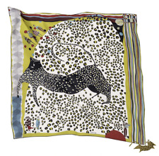 Rumisu 'The Leopard'  Silk Scarf  90cm x 90 cm