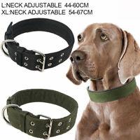 Heavy Duty Large Dog Collar Neck Buckl Large Breed Nylon Collars Adjustable//