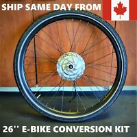26'' Bafang Front Wheel E-BIKE CONVERSION KIT Electric Bicycle Hub not BBSHD