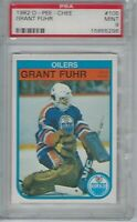 PSA 9 MINT 1982 O-Pee-Chee Grant Fuhr Rookie RC NHL HOF Offers OK