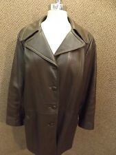 Vtg Supple Soft Brown Patina Buck Deerskin Leather Jacket 48 Bust Custom Coat WI