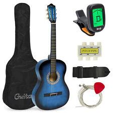 BCP 38in Beginner Acoustic Guitar Musical Instrument Kit w/ Case, Strap, Tuner