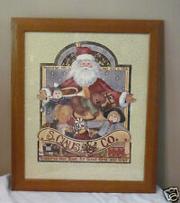Home Interior HOMCO Santa Claus S. Claus & Co. Treasures & Toys Framed Picture