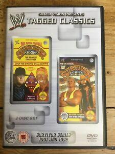 WWE Tagged Classics - Survivor Series 1991 & 1992 DVD (2 Disc Set) WWF RARE