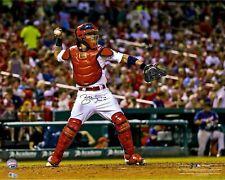 Yadier Molina St Louis Cardinals  Autographed 8x10 Photo (RP)