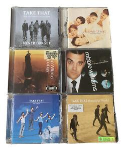 Take That & Robbie Williams CD Album Bundle Never Forget, 90s Pop Gary Barlow