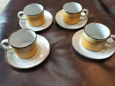 4 Stonehenge Midwinter Sun Cups And Saucers 2 Sets Available Mid Century