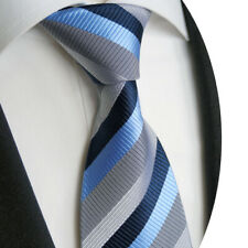 beytnur Cravatta a righe, puro Siede, Blu, Grigio, modello nr. K 228.1