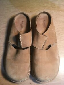 Cole Haan Leather Suede Tan Brown Sandals Shoes 10 EUC