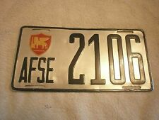 ALLIED FORCES IN SOUTHERN EUROPE 1960s RARE VINTAGE # 2106 RARE LICENSE PLATE