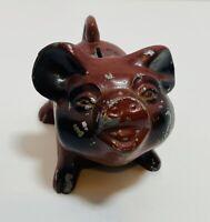 🐽 Vintage Cast Iron Red Metal Piggy Bank