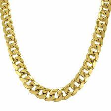 18k Gold Filled Necklace Miami Cuban Link 18mm Chain Hip Hop +400 Gr 30 Inch Men