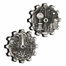 2018 Evolution of Industry 1oz Silver Gear-Shaped Two-Coin Set