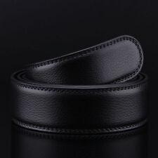 Men Genuine Leather Belt For Automatic Buckle Waist Strap Belt Black Brown 3.5CM