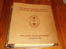 1959 1960 FORD DEALERSHIP TRAINER TIPS BULLETIN SERVICE TRAINING DEALER ALBUM