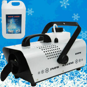 Snow Machine  + 5L  Liquid Home Party Stage Snow Atmosphere Effect