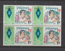 Philippine Stamps 1973 Philatelic Week ovpt  Blocks of 4 complete MNH