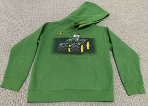 John Deere Tractor Green Graphic Logo Youth Boy's Large (7) Sweatshirt Hoodie