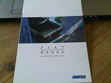 FIAT Range Brochure January - June 1993 Panda Uno Tipo Tempra