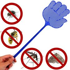 More details for 5 large hand shape fly swatters long handle insect mozzie moth wasp killer smack