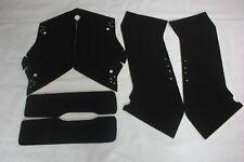 """Black complete Carpet Liner kit set for Harley-Davidson 4"""" Extended Stretch Bags"""