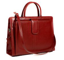 Leder Aktentasche Rot Damen Business Laptop Tasche ECHTLEDER NEU TOP - Modell