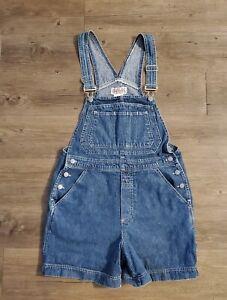 Bill Blass Jeans Womens Vintage Denim Overall Shorts Blue Size Small Shortalls