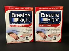 2x Breathe Right Nasal Strips Extra Strength 26 Tan Strips, $8.45 each, NEW #041