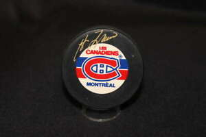 GUY LAFLEUR SIGNED MONTREAL CANADIENS NHL PUCK BB2128