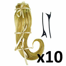 """Hair Extensions Clip In 2 Piece Ken Paves Hairdo Ginger Blonde Fashion 16"""" x10"""