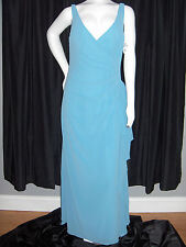 AFTER SIX SIZE 10 BLUE GOWN DRESS NU-GEORGETTE WINDSOR BLUE SEXY NWT USA MADE