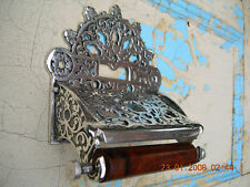 **  VICTORIAN STYLE ~CHROME ~TOILET ROLL HOLDER**