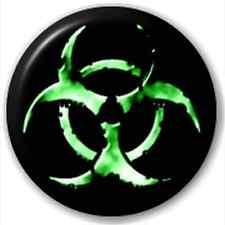 Small 25mm Lapel Pin Button Badge Novelty Biohazard Chemical Joke