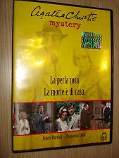 DVD LA PERLA ROSA LA MORTE E' DI CASA AGATHA CHRISTIE MYSTERY MALAVASI