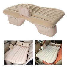 Beige Car Travel Camping Air Bed Inflatable Mattress Back Seat Cushion Pillow