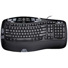 Logitech Wave Wired Ergonomic  Keyboard English/French Layout (IL/RT6-13014-9...