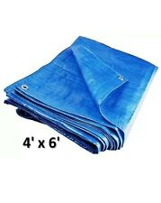 Heavy Duty Lightweight Tarpaulin Polyethylene Waterproof Cover Ground Sheet 4'X6