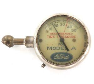 .SCARCE 1928 - 1931 FORD MODEL A TIRE PRESSURE GAUGE / TYRE GAUGE. WORKING