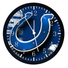 Indianapolis Colts Black Frame Wall Clock Nice For Decor or Gifts W25