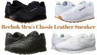 Reebok Classic Leather Men's Sports Shoes (Black/Gum,White/Gum)