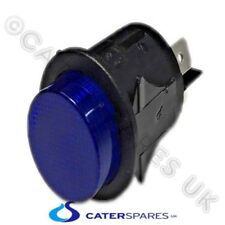 BLUE NEON ROUND 25mm CIRCULAR LATCHING PUSH BUTTON ON OFF SWITCH DOUBLE POLE