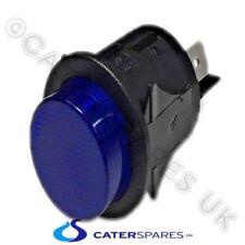 BLU NEON Rotondo 25mm circolare a scatto PULSANTE INTERRUTTORE ON OFF